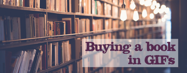 Buying a book in GIFs